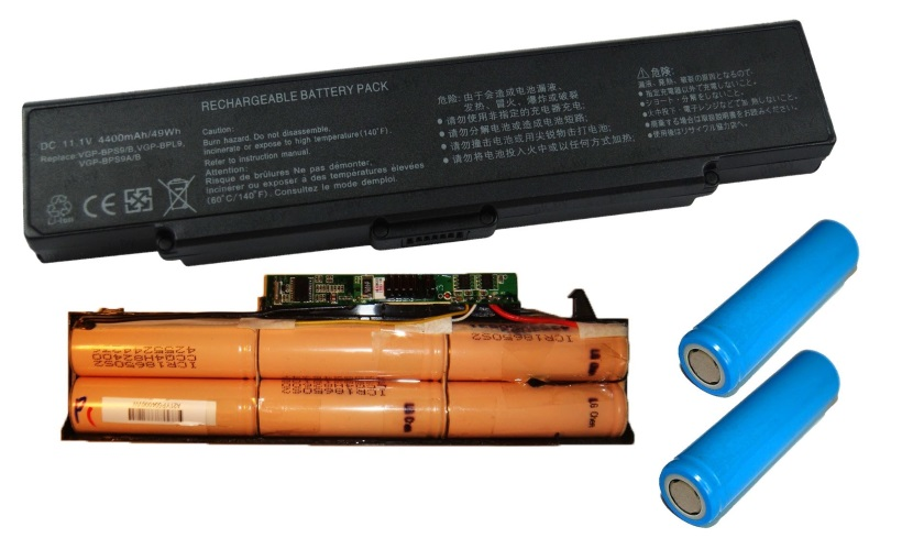 Li-ion батареи для ноутбуков